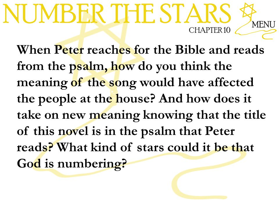 NUMBER THE STARS CHAPTER 10.