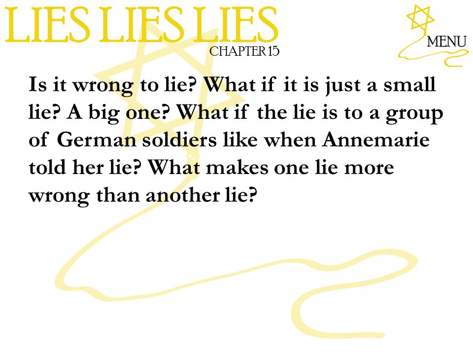LIES LIES LIES CHAPTER 15.