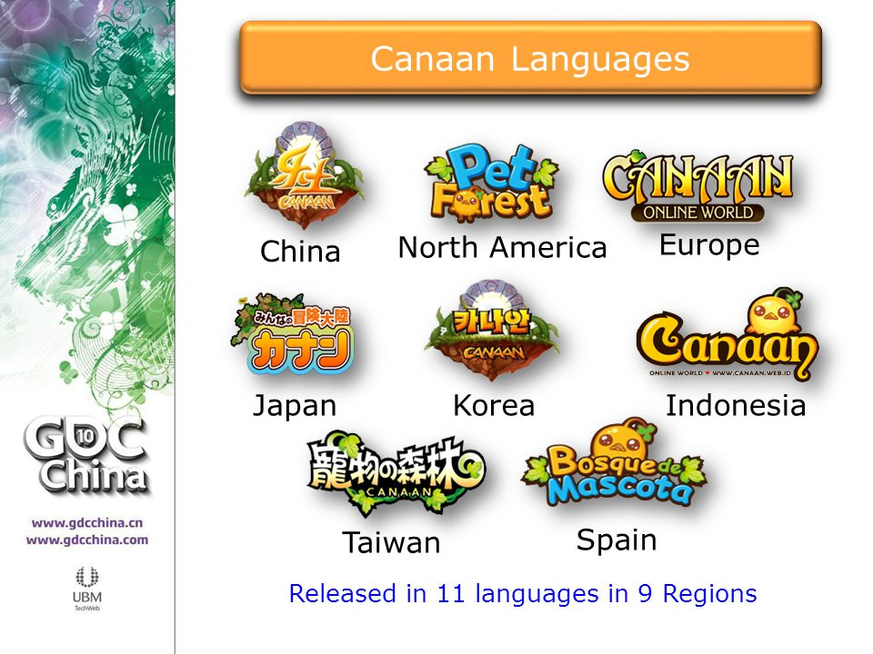 Released in 11 languages in 9 Regions