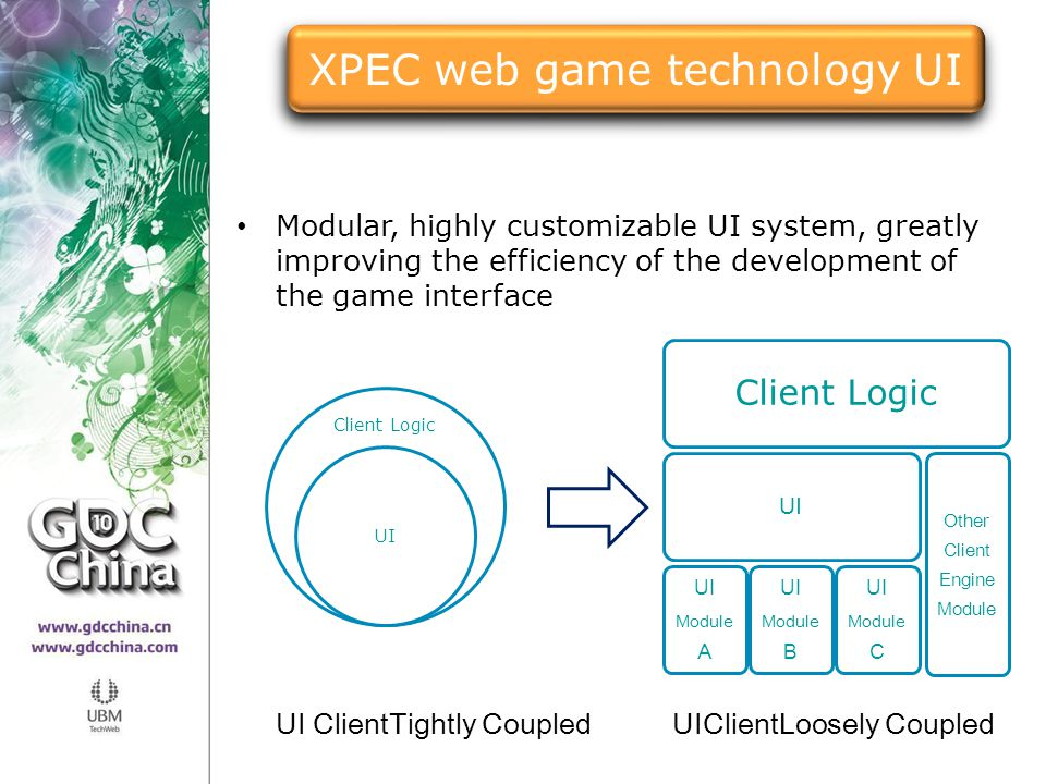 XPEC web game technology UI
