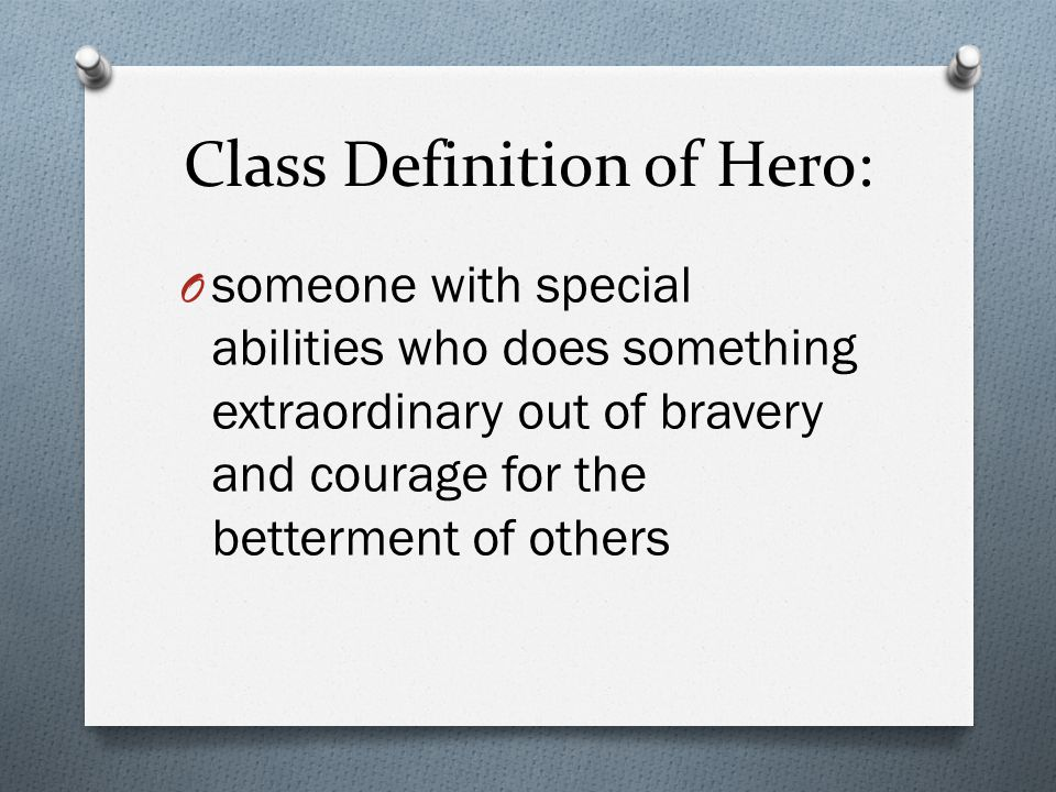 Class Definition of Hero: