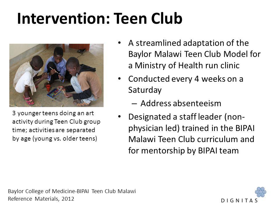 Intervention: Teen Club
