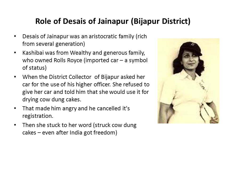 Role of Desais of Jainapur (Bijapur District)