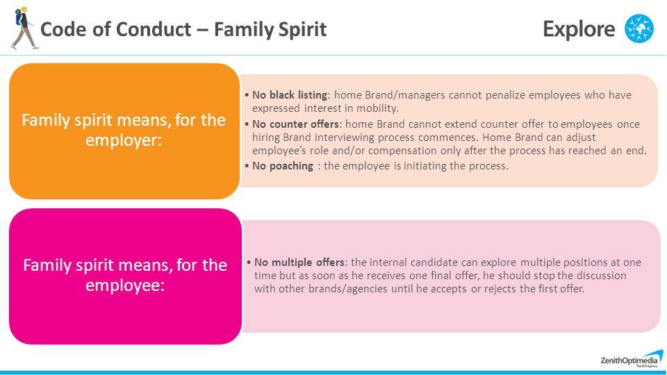 Code of Conduct – Family Spirit