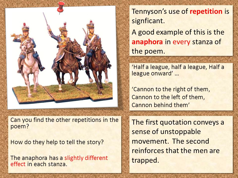 Tennyson's use of repetition is signficant