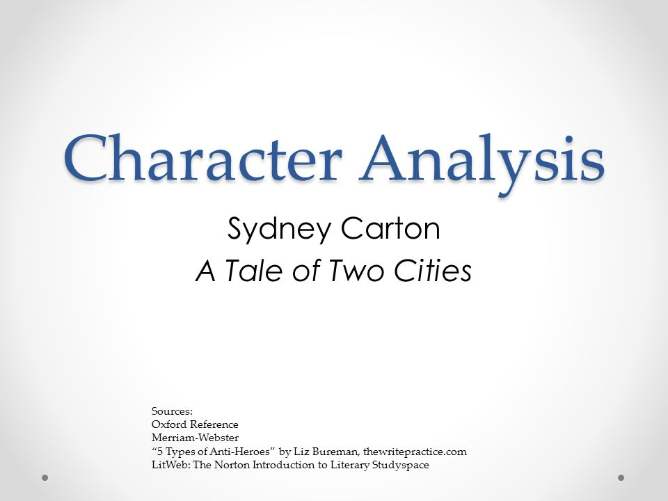 an analysis of redemption of sydney carton as the most progressive and dynamic character of charles  More the character of sydney carton in a tale of two cities sydney carton is the most memorable character in charles sydney carton is the most dynamic character.