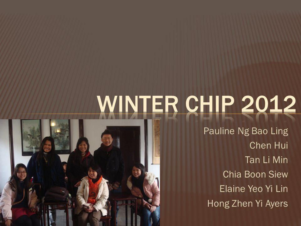 Winter CHIP 2012 Pauline Ng Bao Ling Chen Hui Tan Li Min