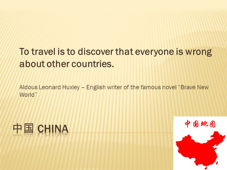 To travel is to discover that everyone is wrong about other countries.