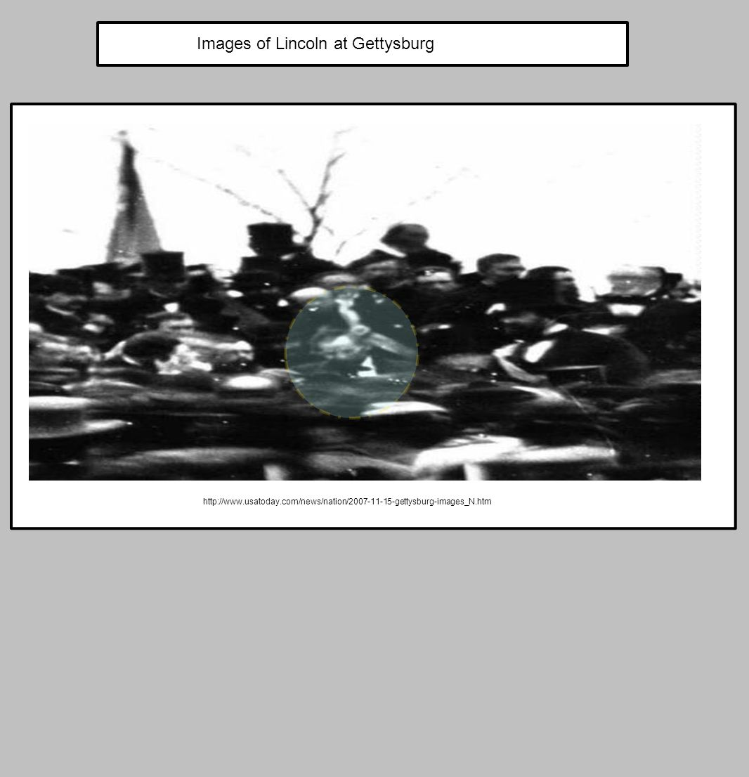 Images of Lincoln at Gettysburg