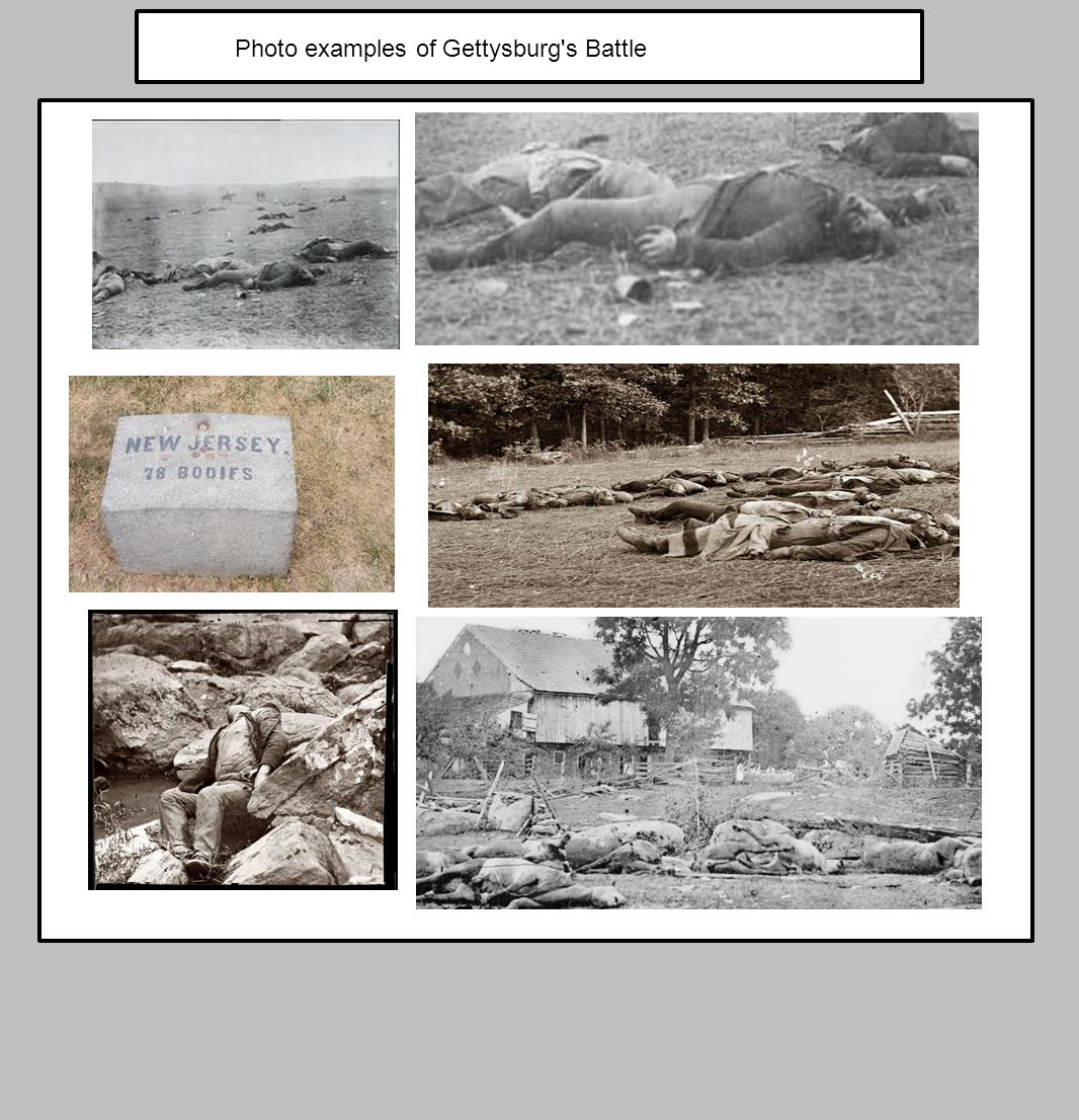 Photo examples of Gettysburg s Battle