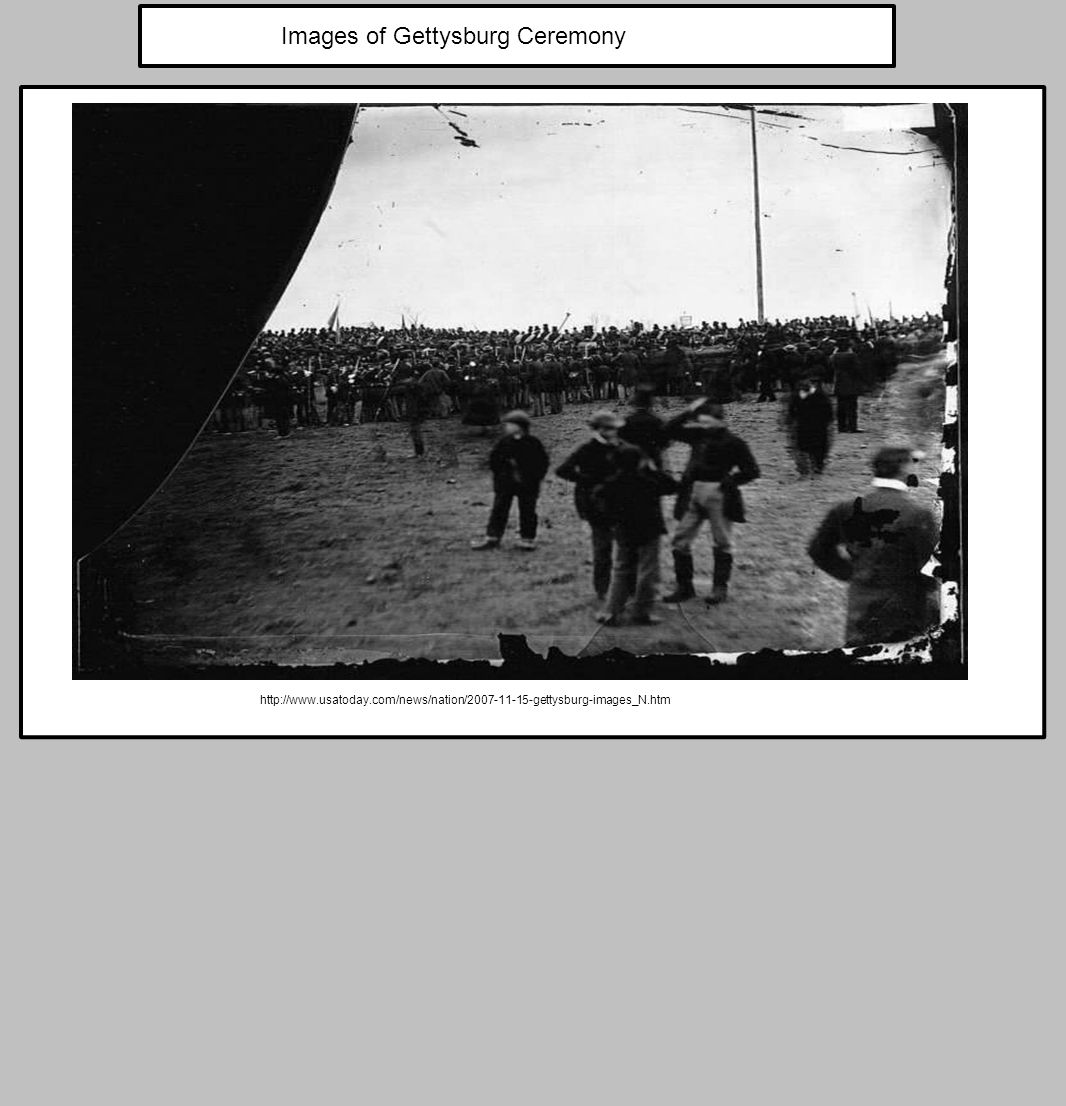 Images of Gettysburg Ceremony