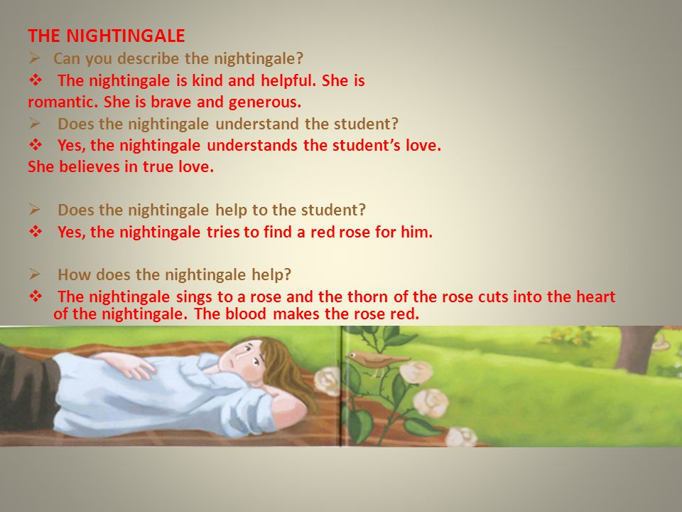 THE NIGHTINGALE Can you describe the nightingale