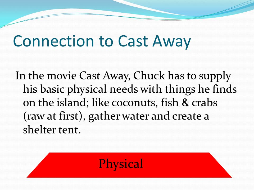 Connection to Cast Away