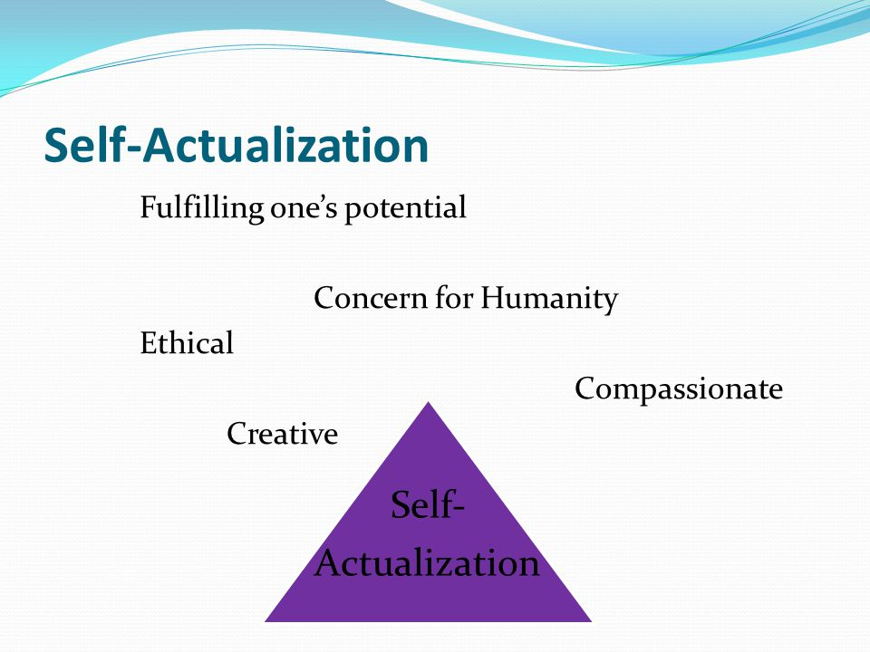 Self-Actualization Self- Actualization