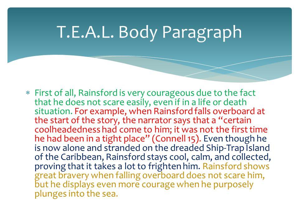 T.E.A.L. Body Paragraph