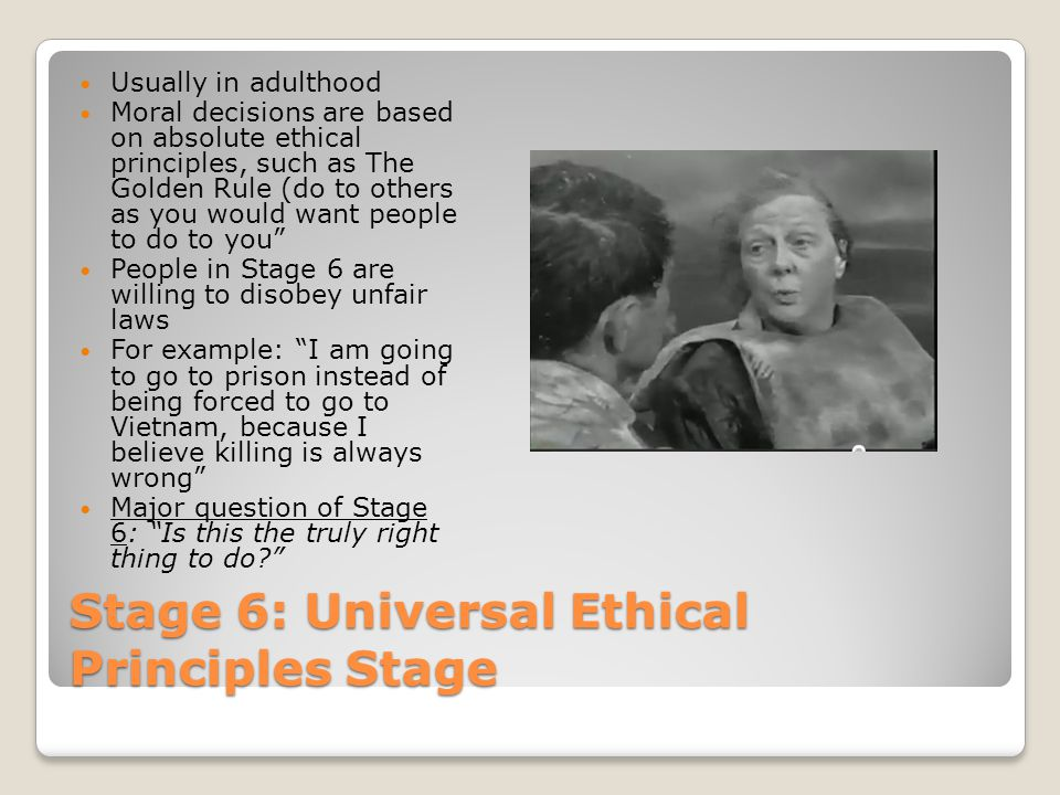 Stage 6: Universal Ethical Principles Stage