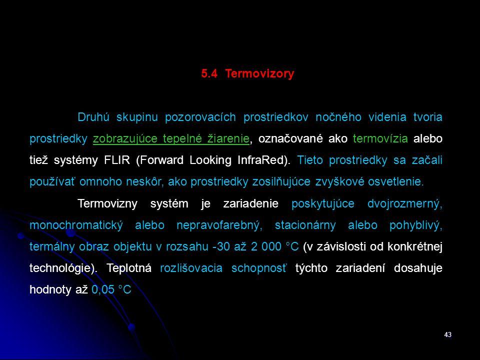 5.4 Termovizory