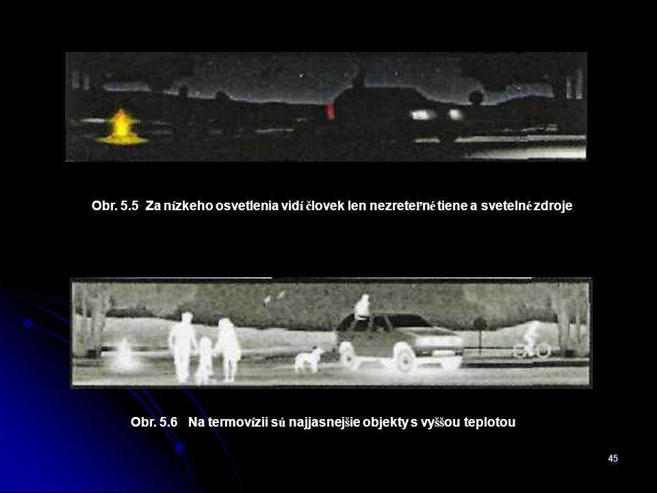 Obr. 5.6 Na termovízii sú najjasnejšie objekty s vyššou teplotou