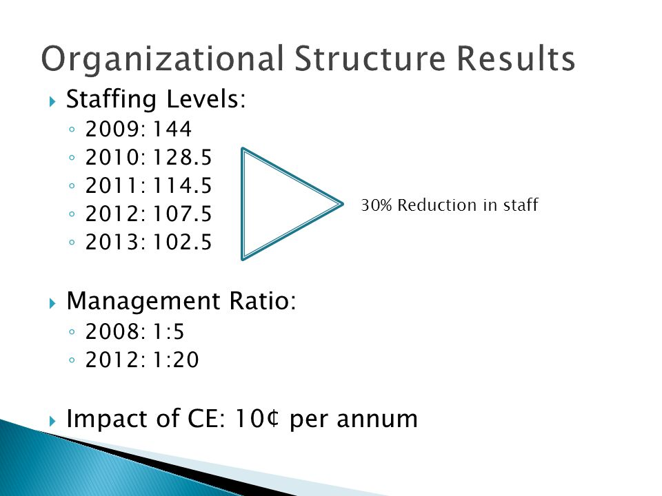 Organizational Structure Results