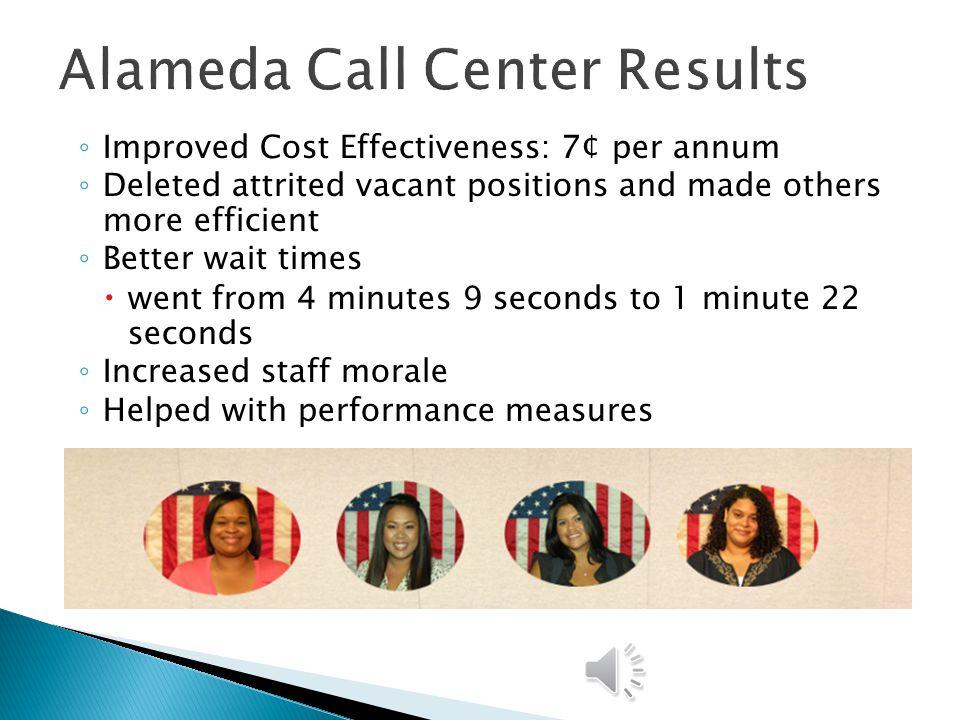 Alameda Call Center Results