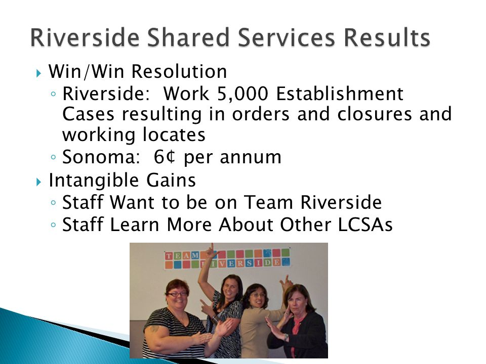 Riverside Shared Services Results