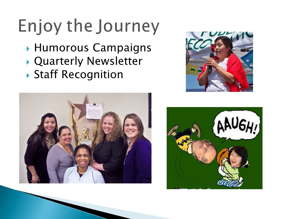 Enjoy the Journey Humorous Campaigns Quarterly Newsletter
