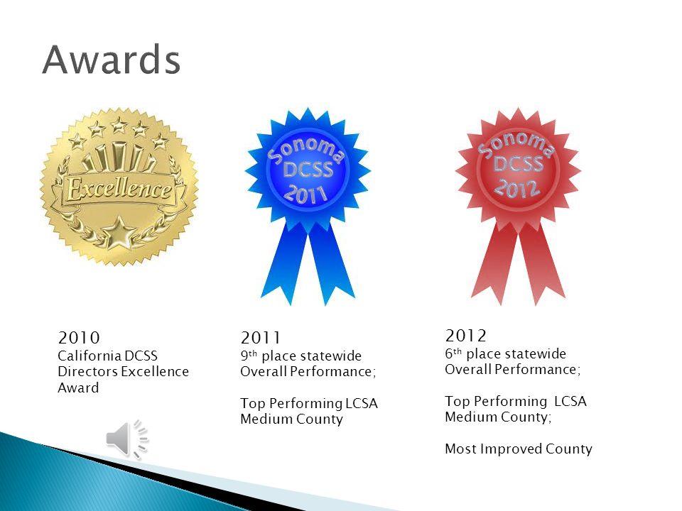 Awards Sonoma Sonoma DCSS DCSS 2012 2011 2010 2011 2012