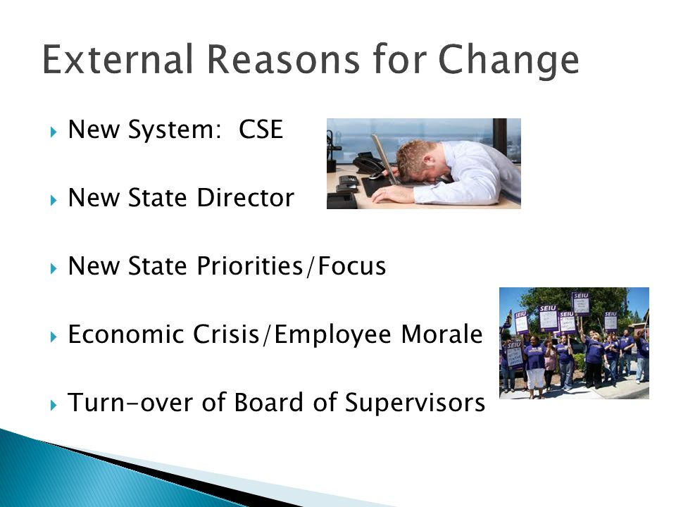 External Reasons for Change