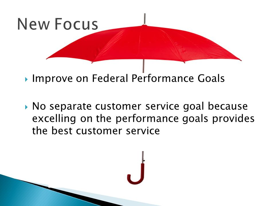 New Focus Improve on Federal Performance Goals