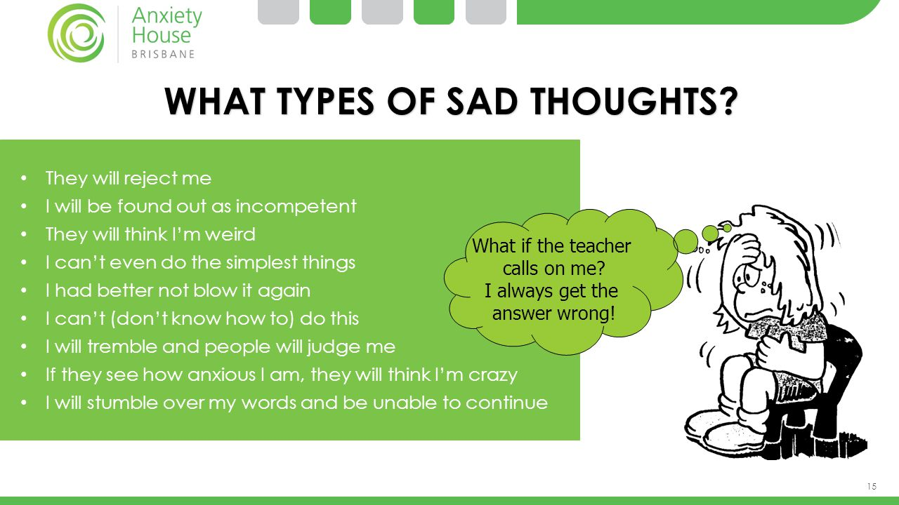 WHAT TYPES OF SAD THOUGHTS