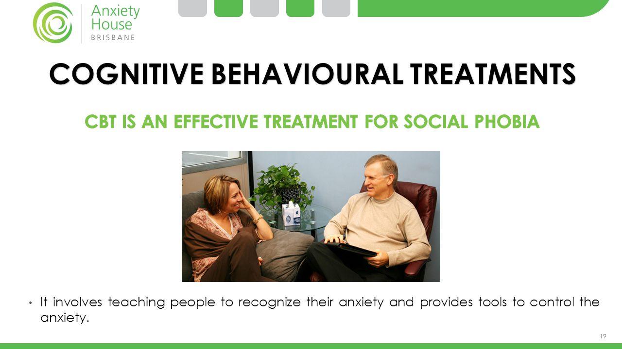 COGNITIVE BEHAVIOURAL TREATMENTS