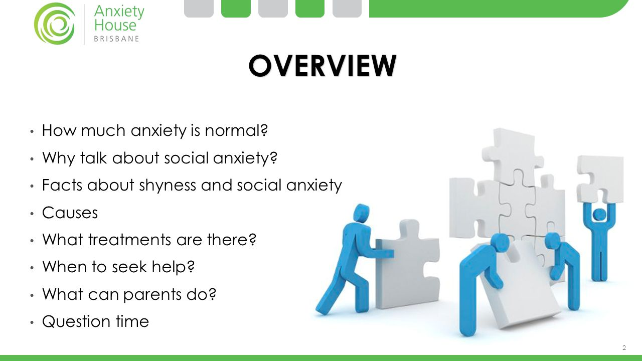 OVERVIEW How much anxiety is normal Why talk about social anxiety