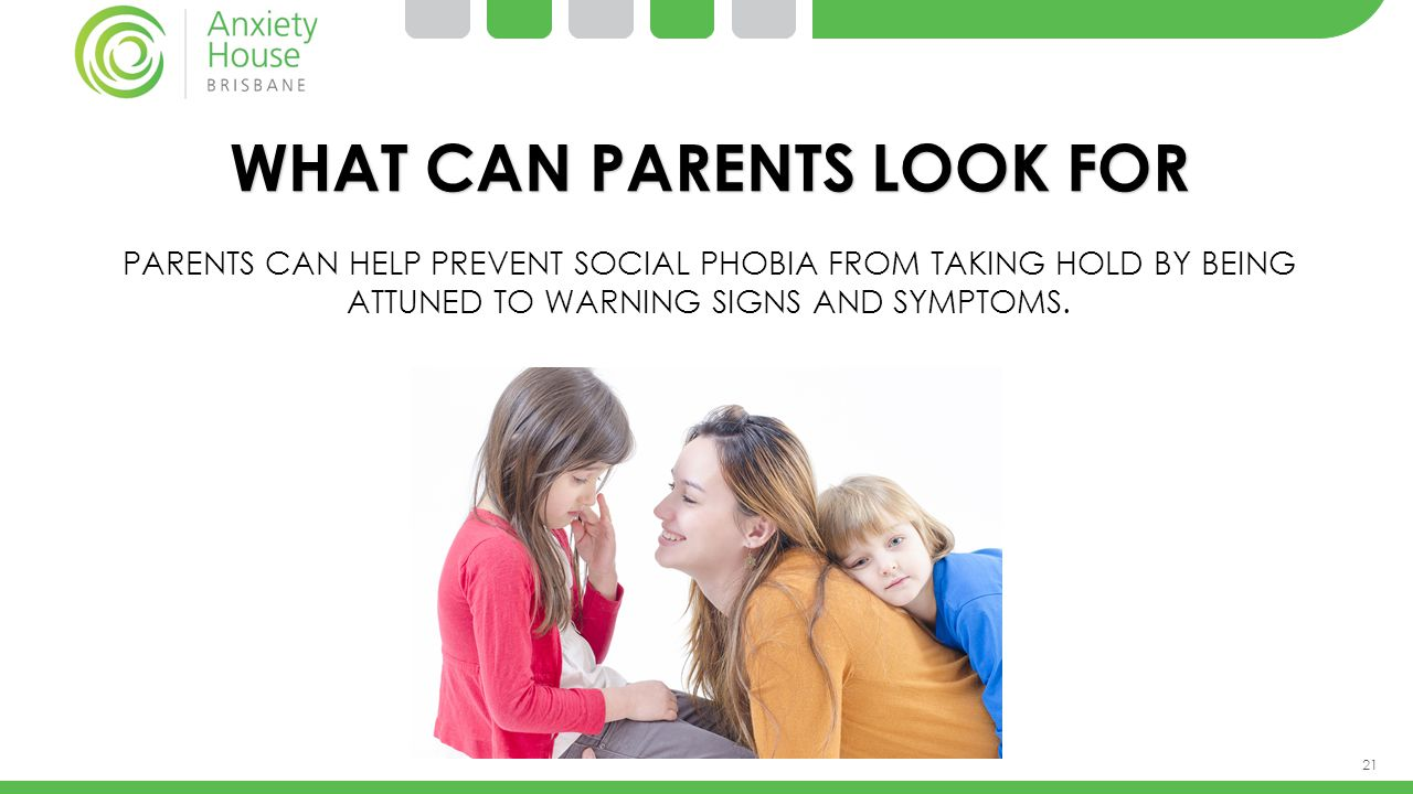 WHAT CAN PARENTS LOOK FOR