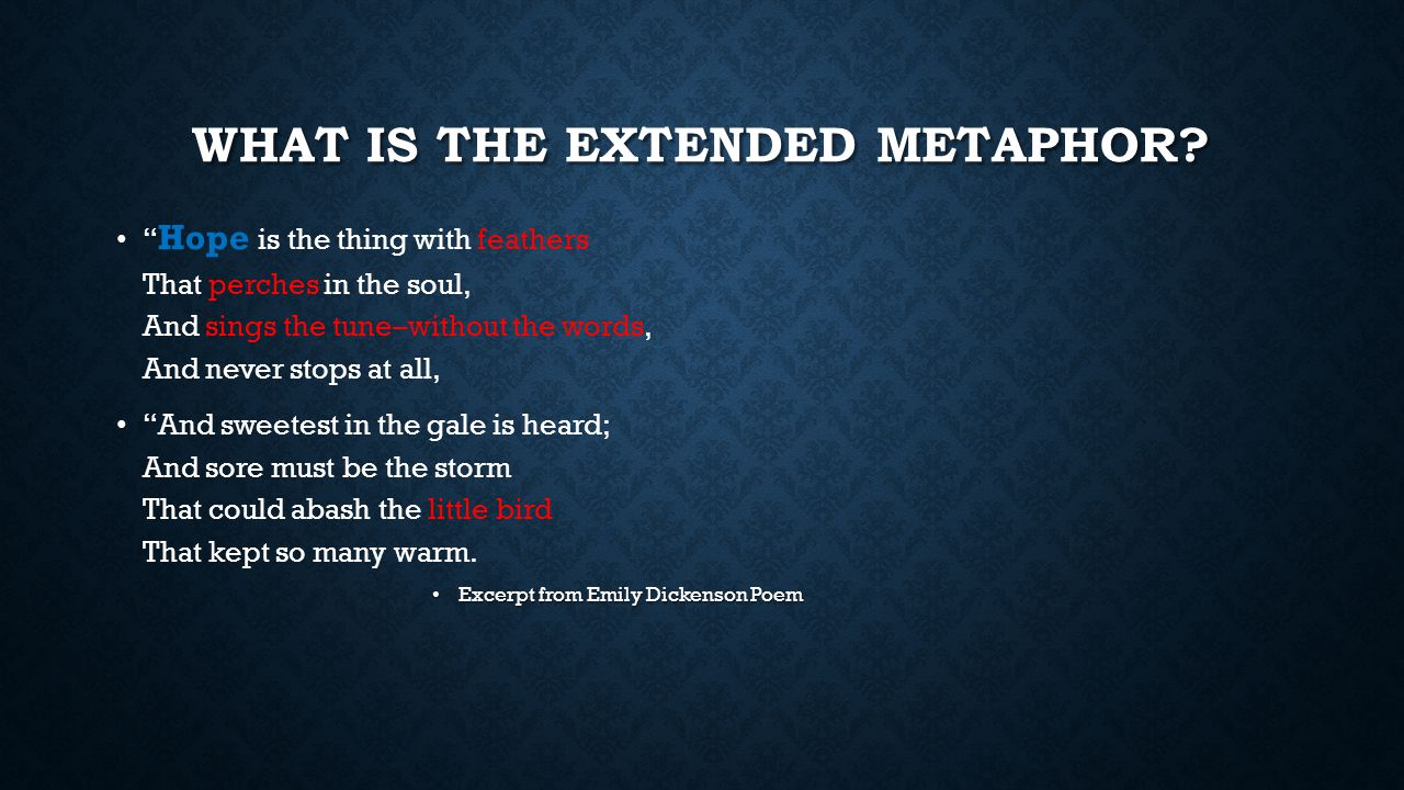What is the Extended metaphor