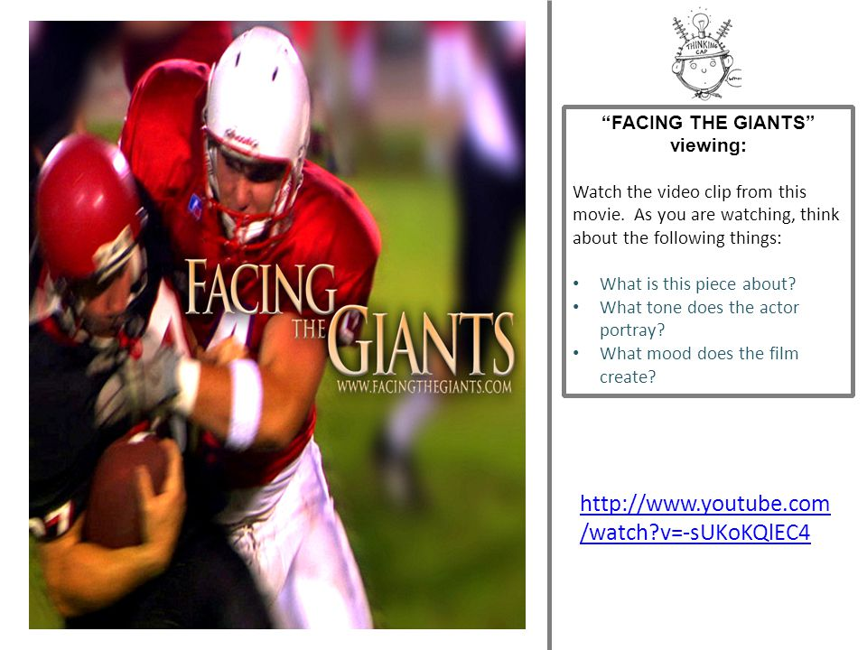 FACING THE GIANTS viewing: