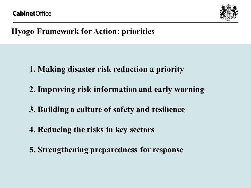 Hyogo Framework for Action: priorities