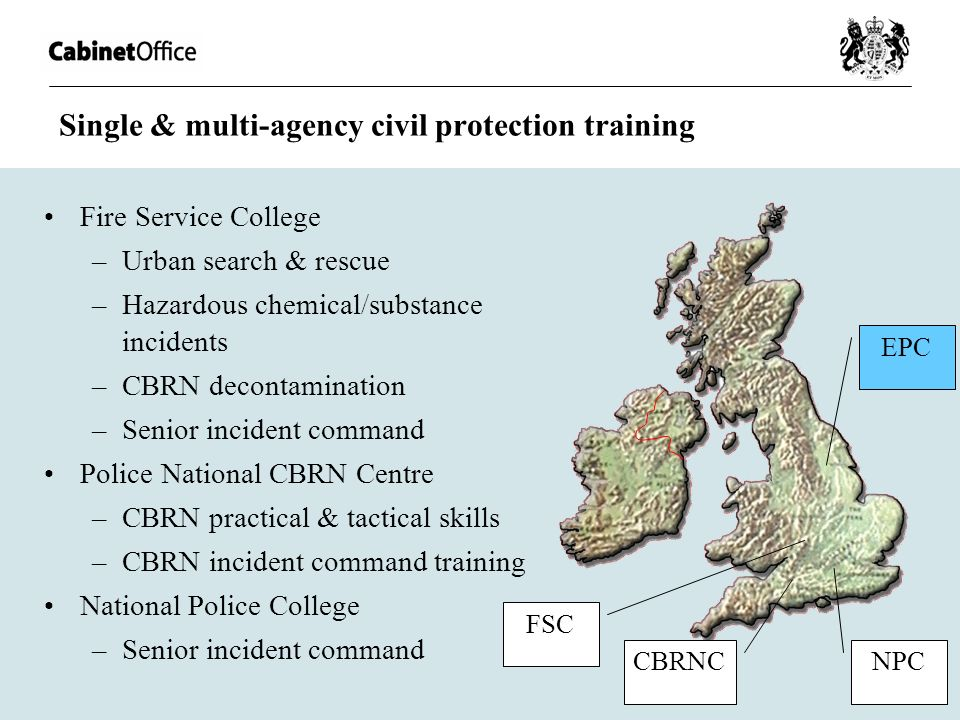 Single & multi-agency civil protection training