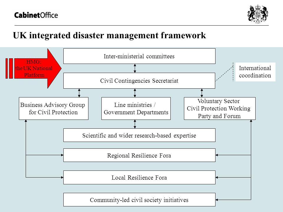 UK integrated disaster management framework