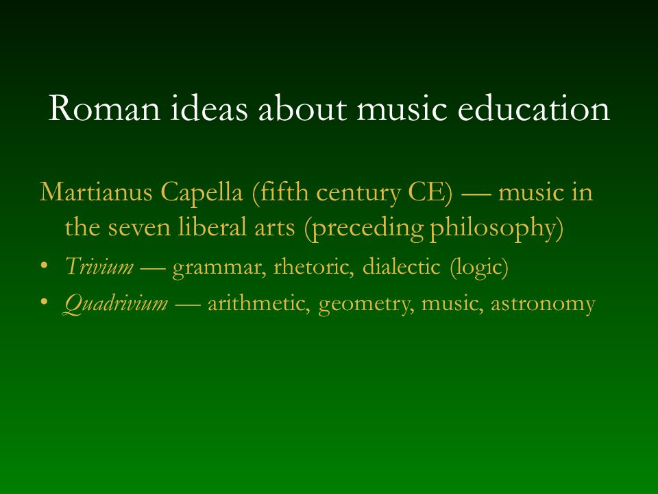 Roman ideas about music education