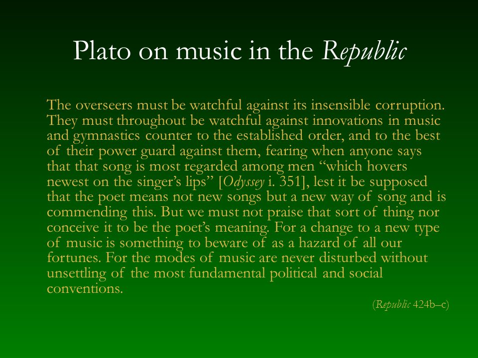 Plato on music in the Republic