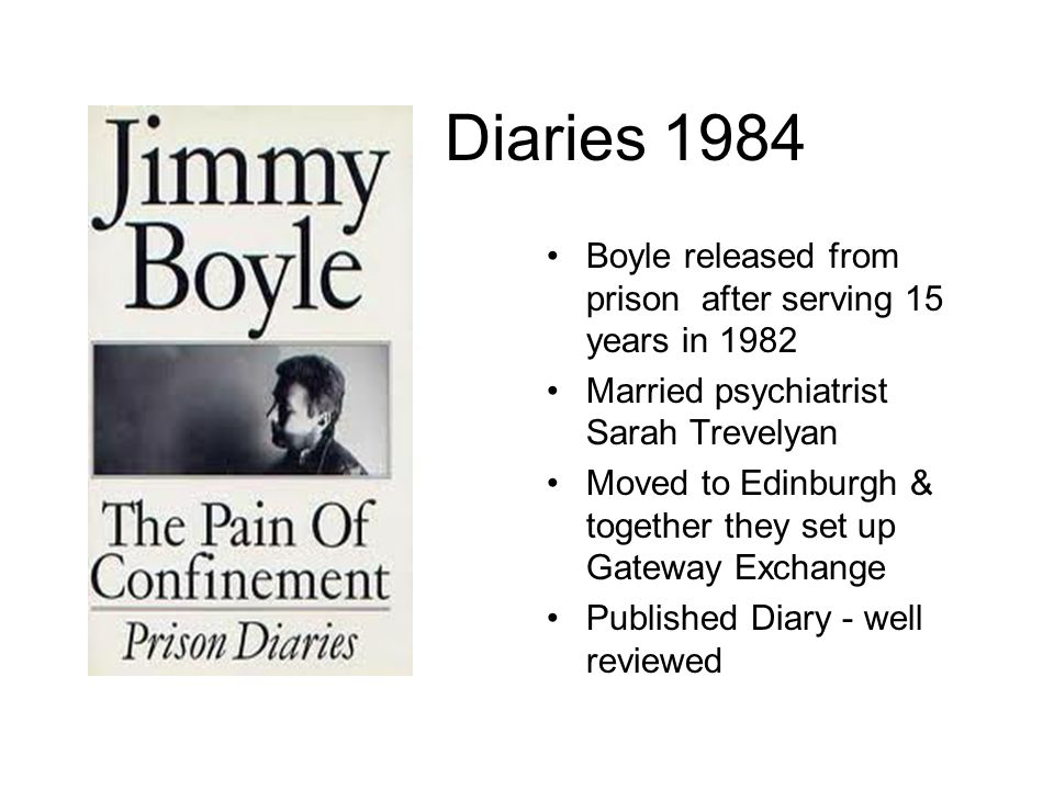 Diaries 1984 Boyle released from prison after serving 15 years in 1982