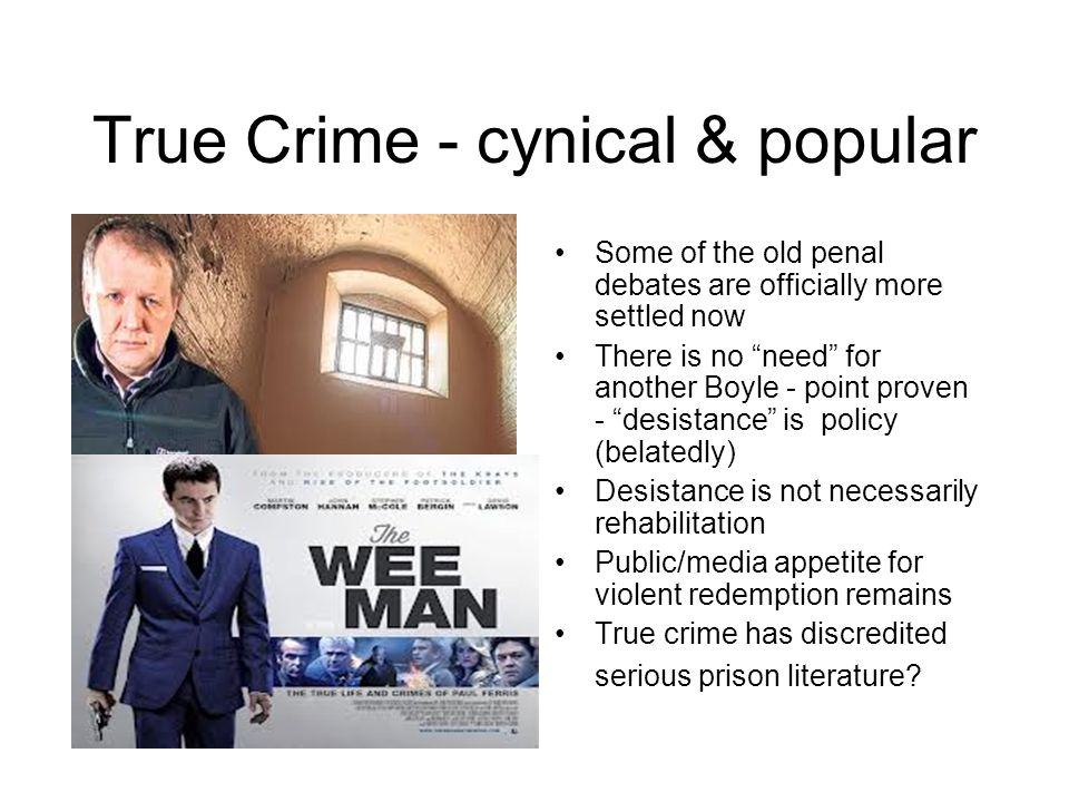 True Crime - cynical & popular
