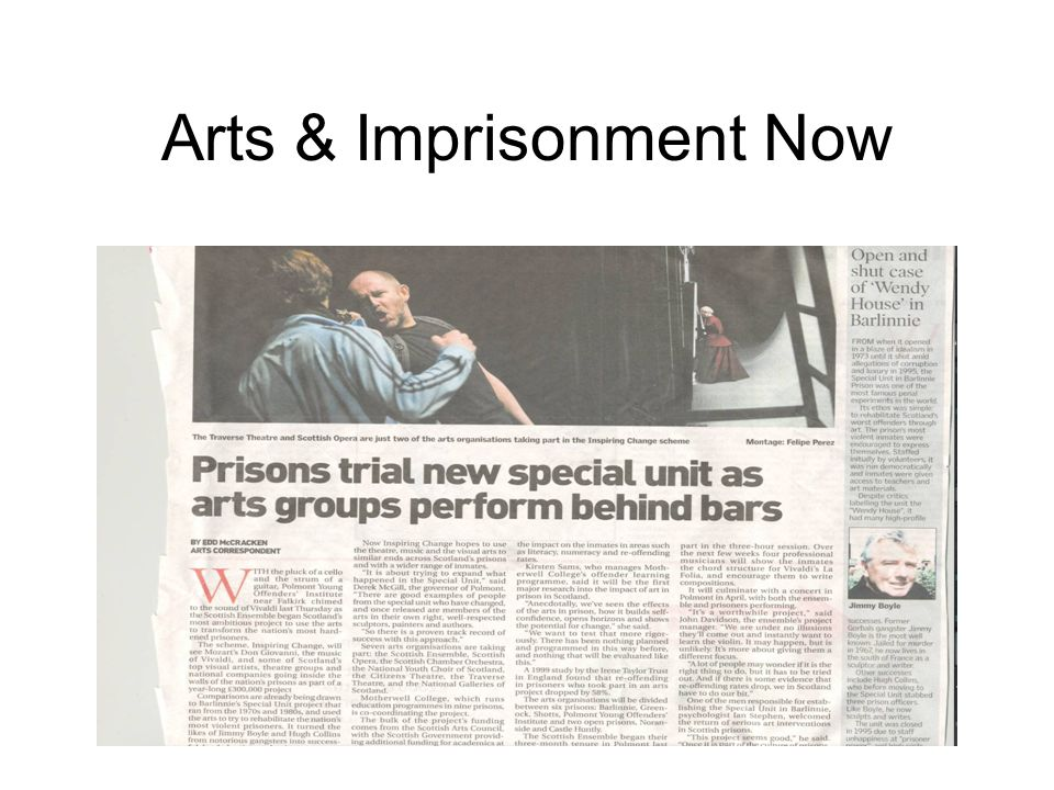 Arts & Imprisonment Now