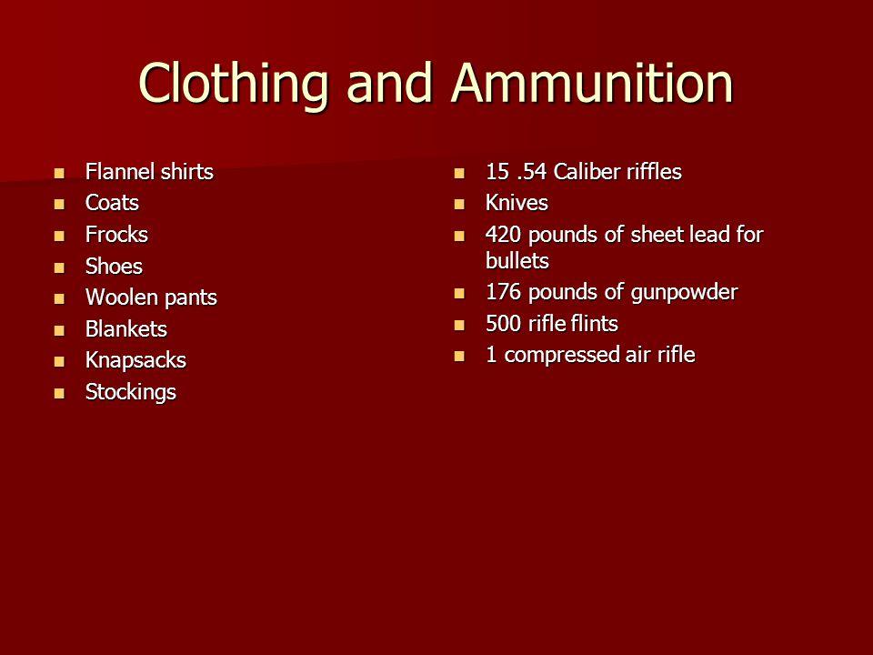Clothing and Ammunition