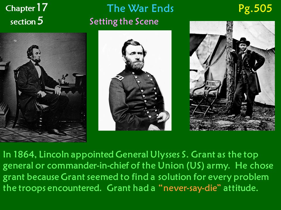 The War Ends Pg.505 Setting the Scene