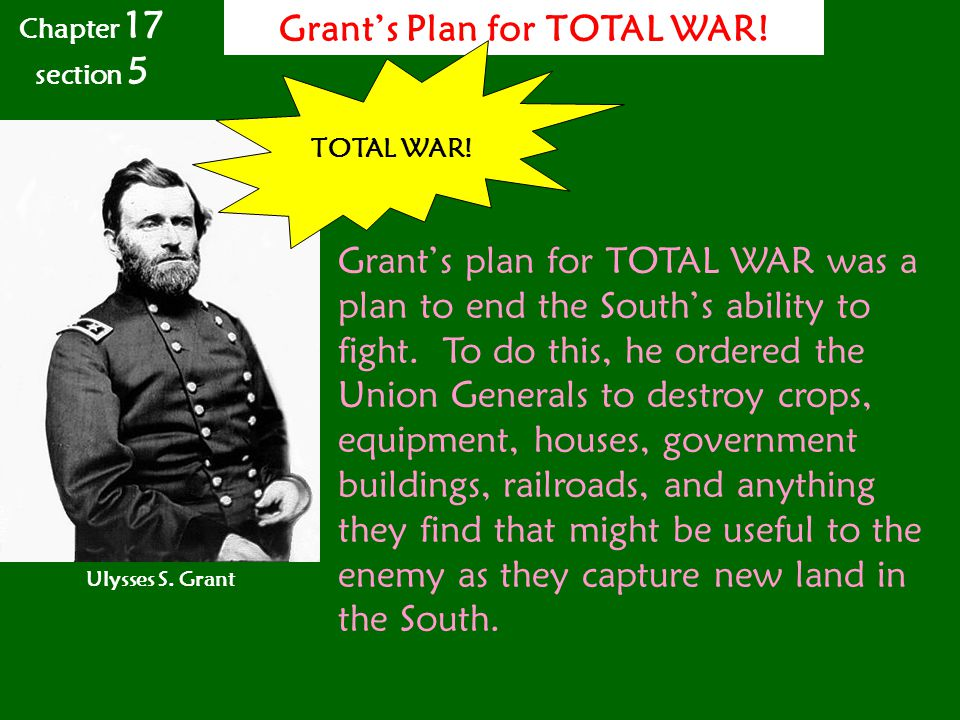 Grant's Plan for TOTAL WAR!