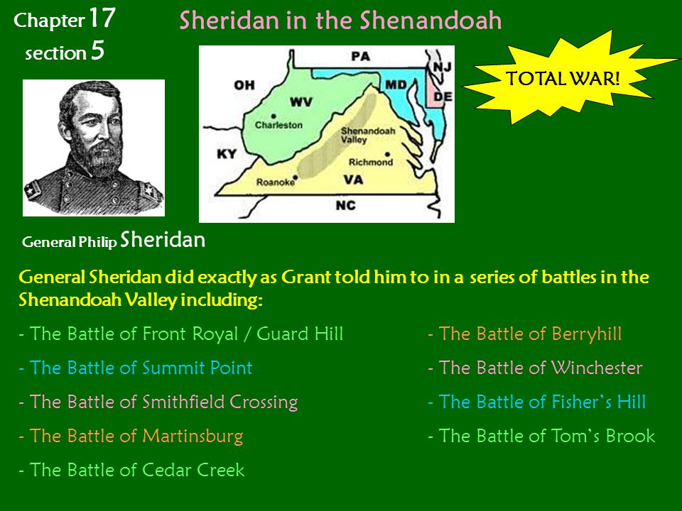 Sheridan in the Shenandoah General Philip Sheridan