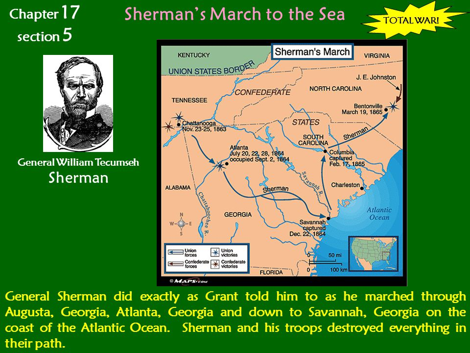 Sherman's March to the Sea General William Tecumseh Sherman