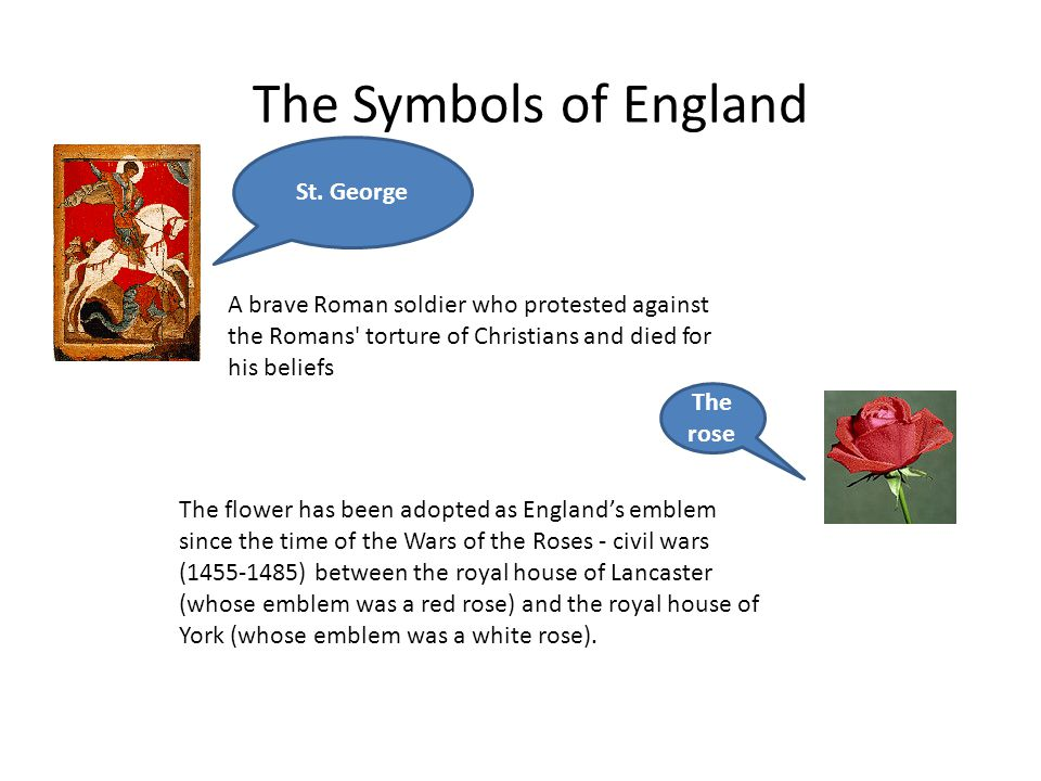 The Symbols of England St. George