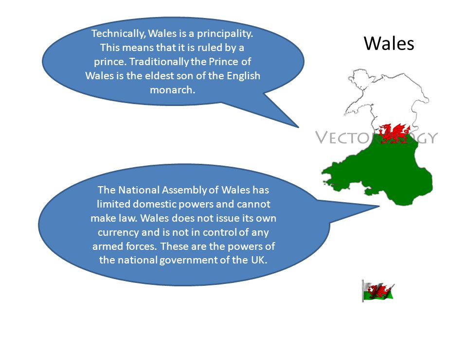 Technically, Wales is a principality
